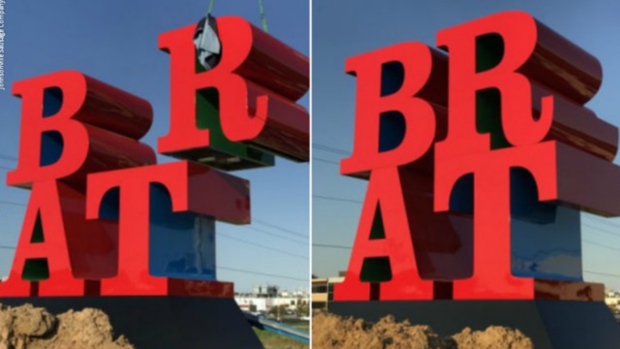 Wisconsin sculpture credited to 'LOVE' artist is big 'BRAT'
