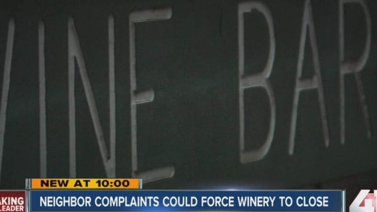 KCK winery may close after neighbor complaints