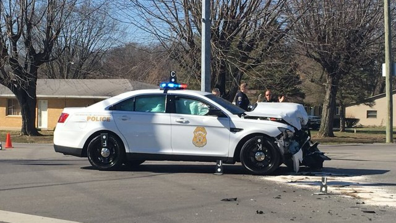 IMPD officer involved in serious crash
