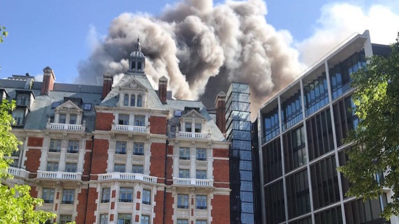Fire rips through newly renovated Mandarin hotel in London