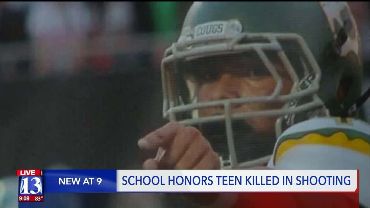 Kearns High School dedicates home opener, retires number of former player shot and killed oversummer