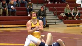 MSU-Northern wrestling dominates Dickinson State on Senior Night