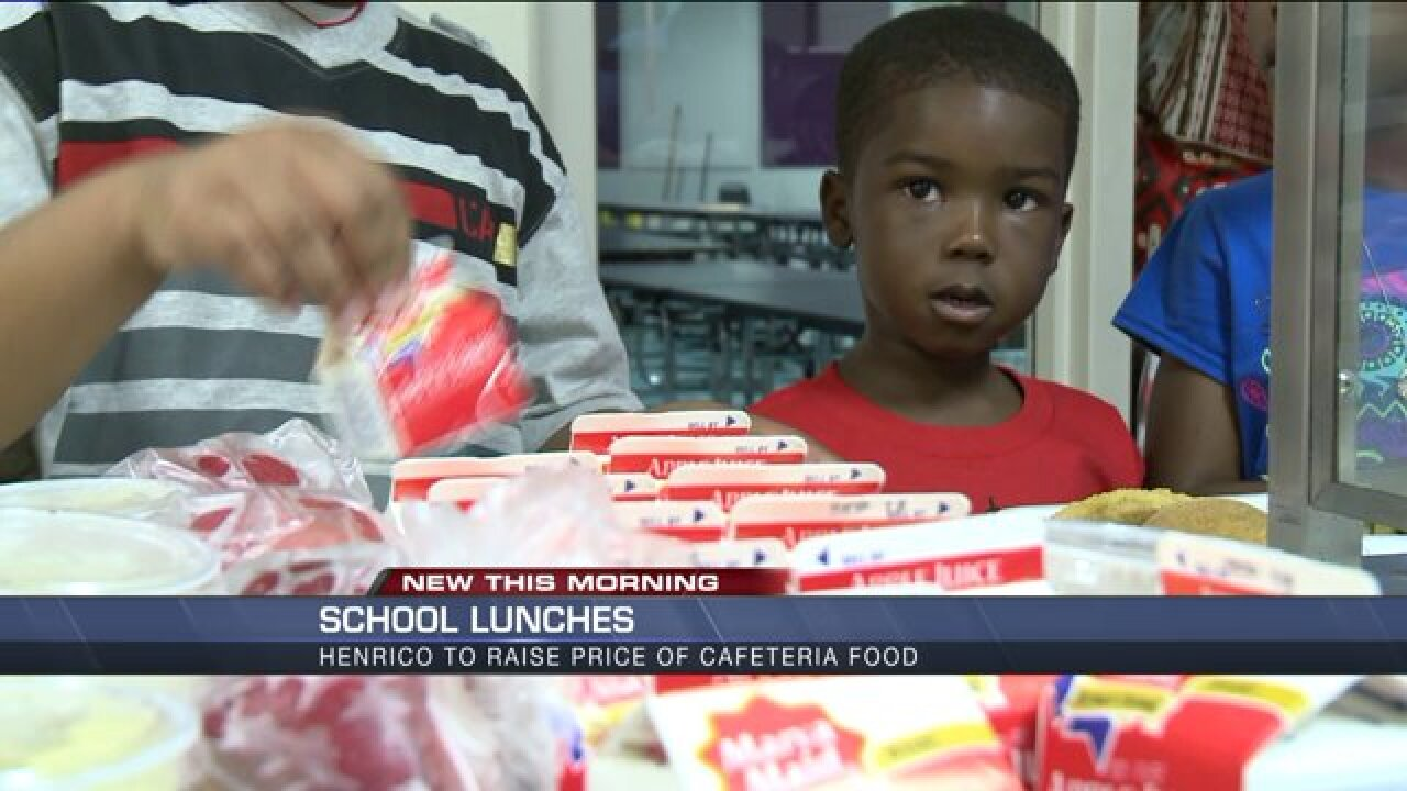 Henrico parents may pay more for healthier school lunches