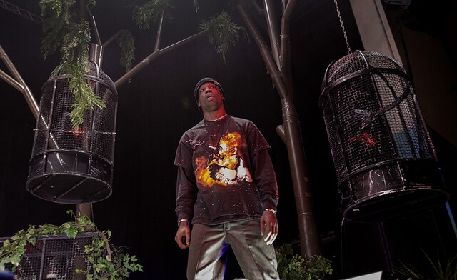 Rapper Travis Scott performs at PNC Pavilion