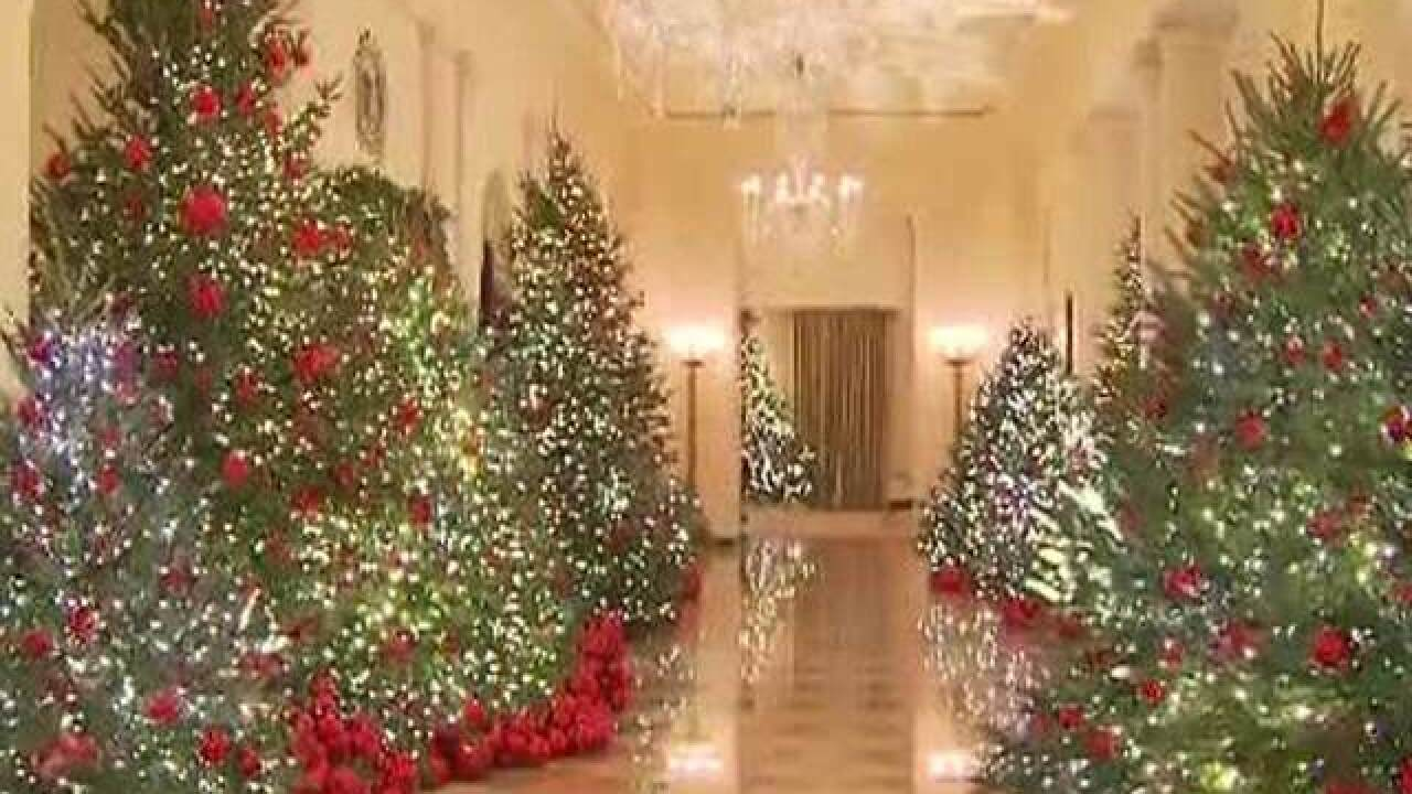 Whitehouse Christmas Decorations.Melania Trump S White House Holiday Decorations Highlight