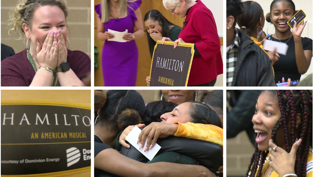 Richmond teacher and students surprised with 'Hamilton' tickets