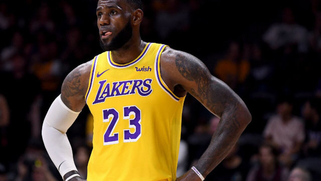 fc0491f1c5b LeBron James makes Los Angeles Lakers debut in preseason game in San Diego