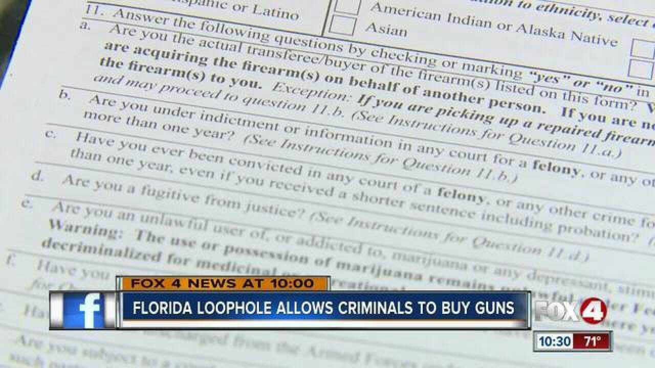 fl felons escape punishment when they lie try to buy a gun