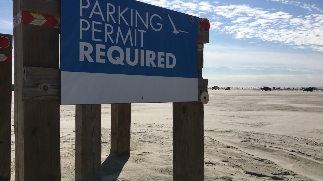 Beach parking permits