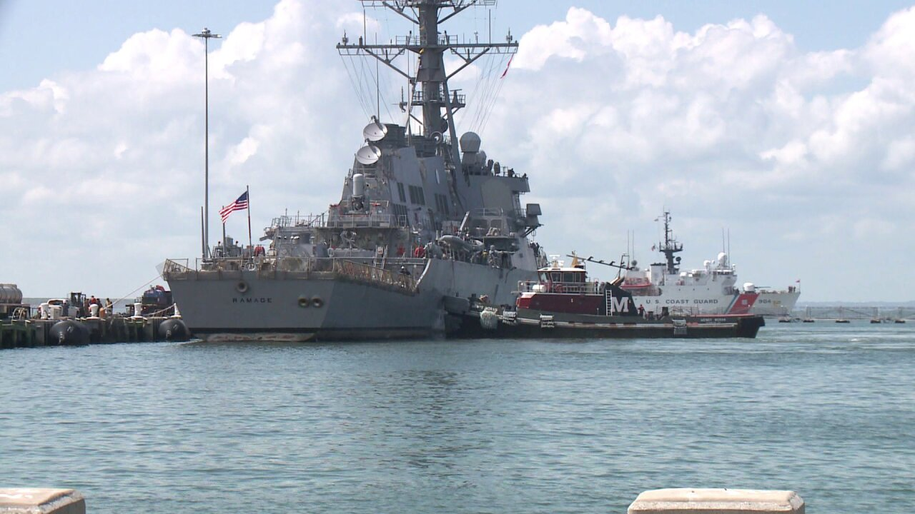Sortied Navy assets return to Hampton Roads