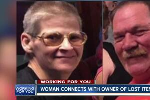 Woman connects with owner of lost items
