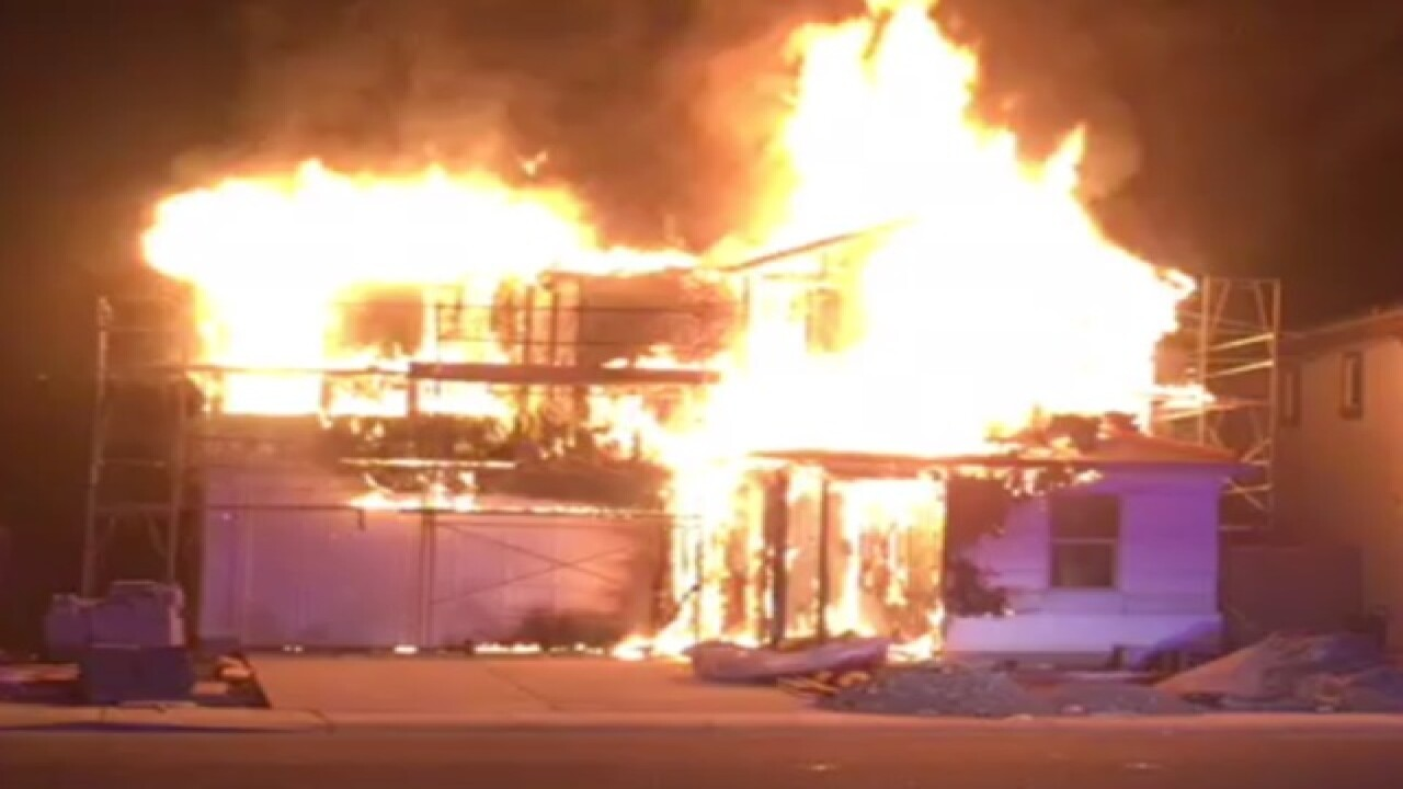 VIDEO: First-alarm house fire in Chandler