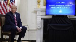 President Trump invites educators in push to reopen schools