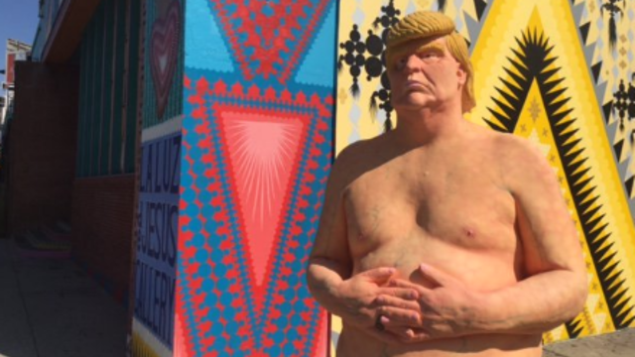 Naked Trump statues pop up in U.S. cities