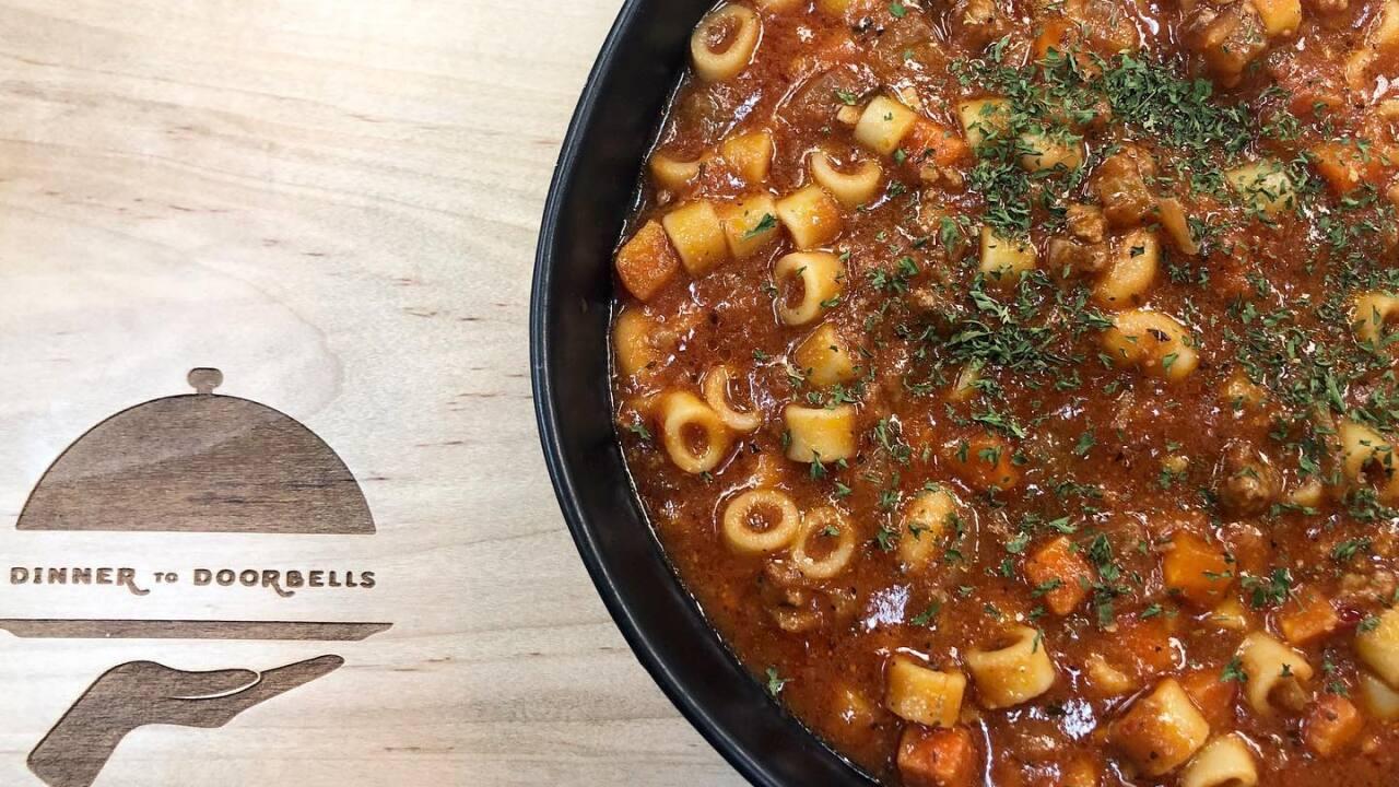 Dinner to Doorbells pasta e fagiole soup.jpg