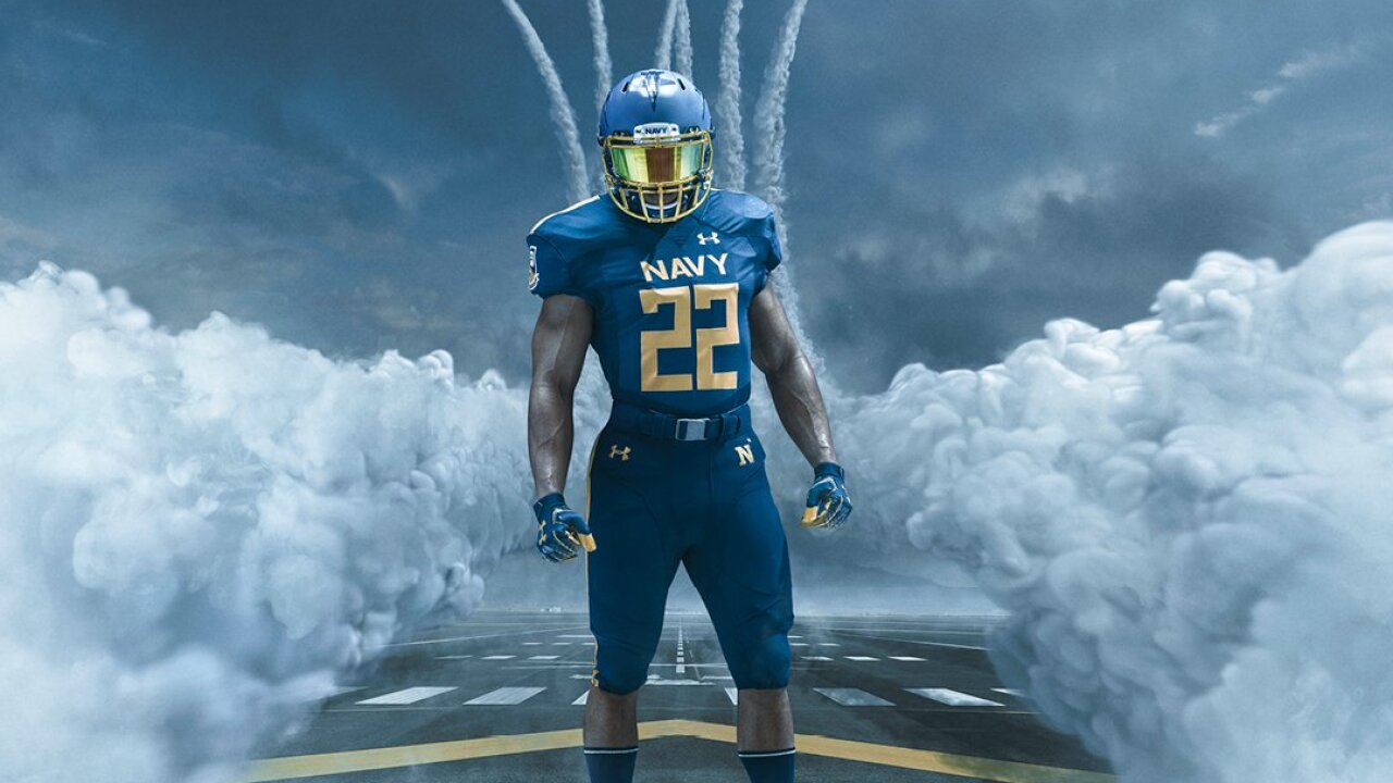 Navy football uniforms for 118th Army-Navy game will honor Blue Angels