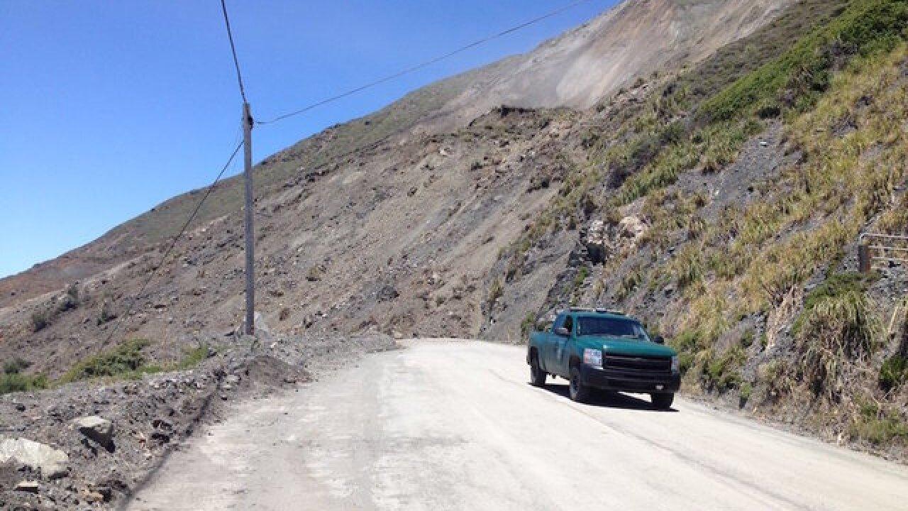 Photos: Landslide buries California highway