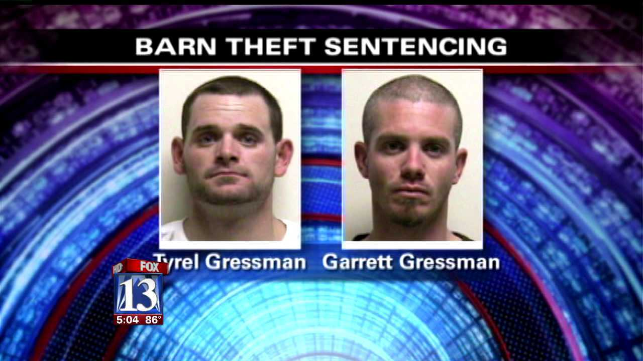Cousins sentenced in Wasatch Co. barn burglaries