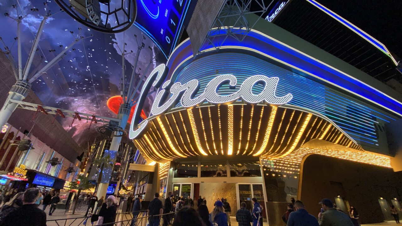 Circa hotel and casino opened in Oct. 2020 and is the first newly built, from the ground up, in downtown Las Vegas since 1980
