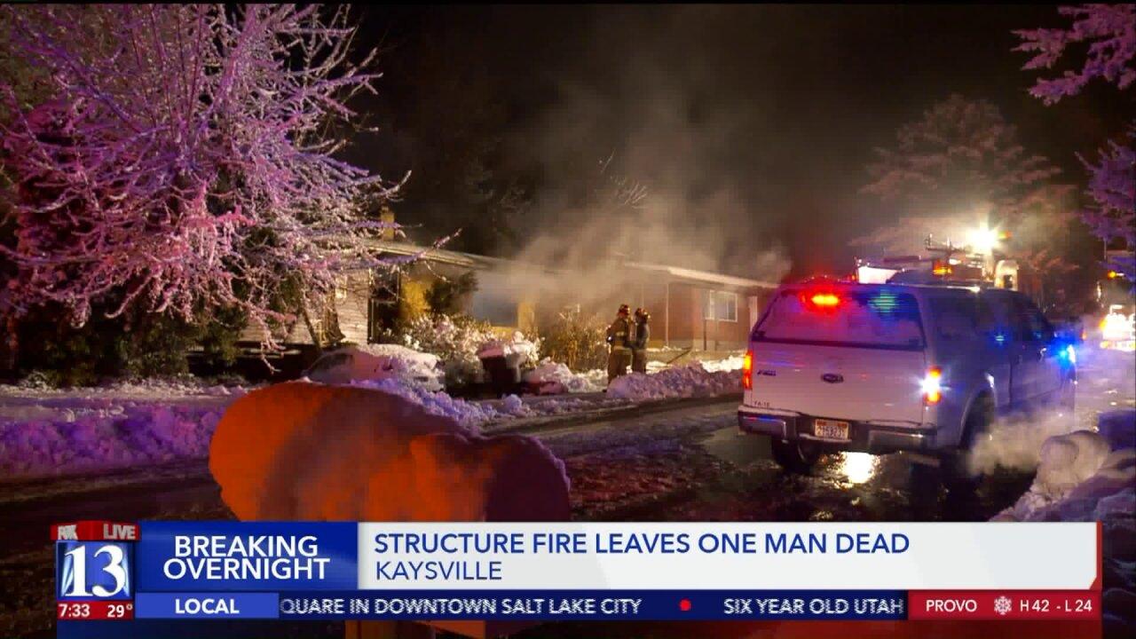 Elderly man found dead in Kaysville residentialfire