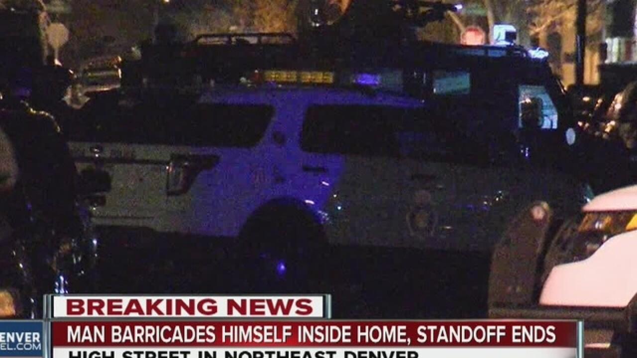 Burglar barricaded himself in ex's home: DPD