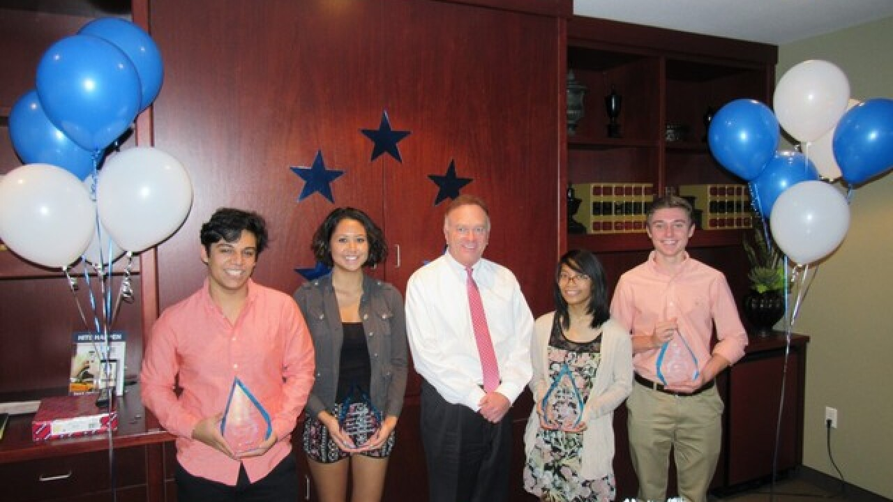 Students with a Cause awards scholarships to four local students