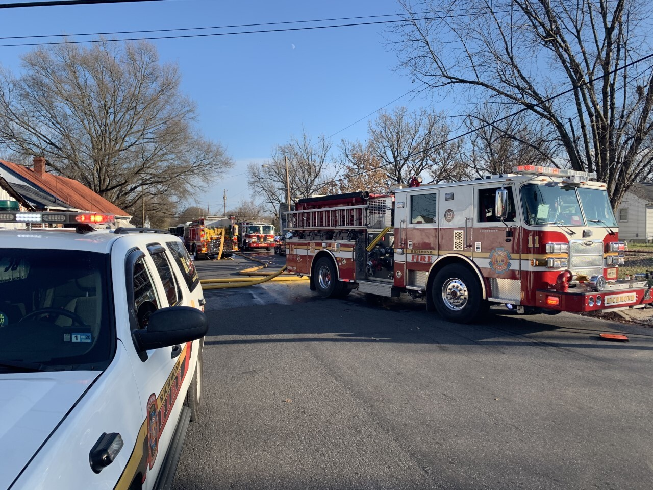 Photos: East End house fire started in back bedroom, crewssay