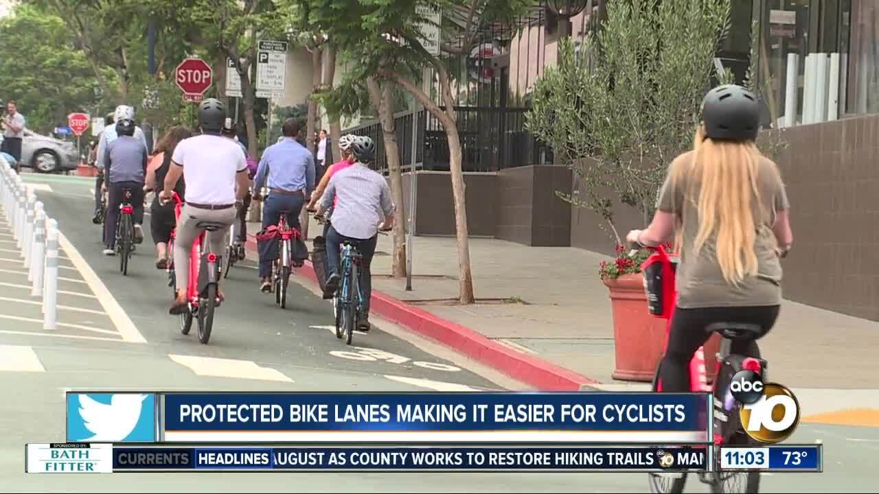 Improved bike lanes make it easier for cyclists
