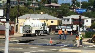 SDSU without water due to nearby main break