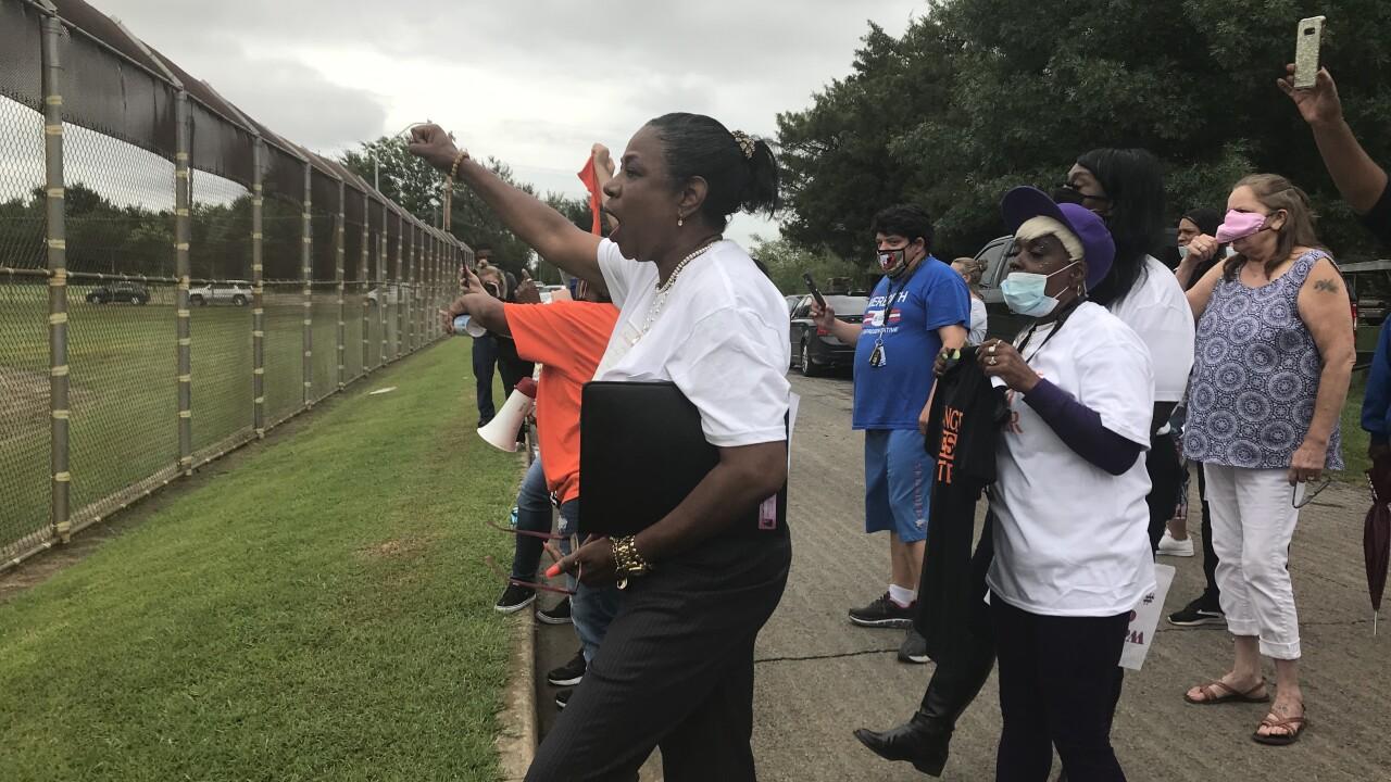 Eddie Warrior Correctional Center protest.jpg
