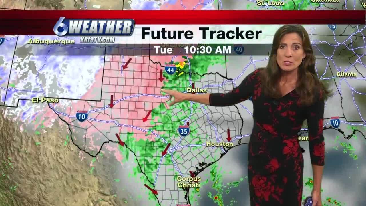 Cold front arrives bringing cooler, breezy conditions