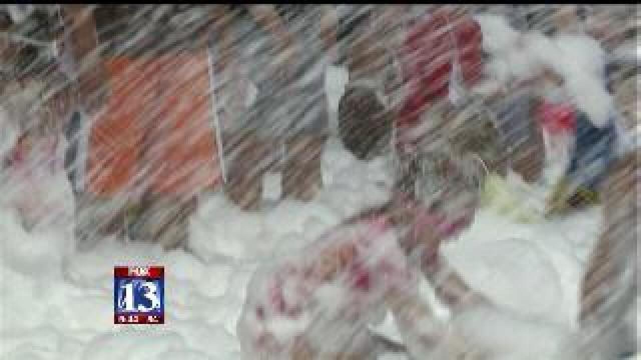 Kids play at Lehi's Foam Day
