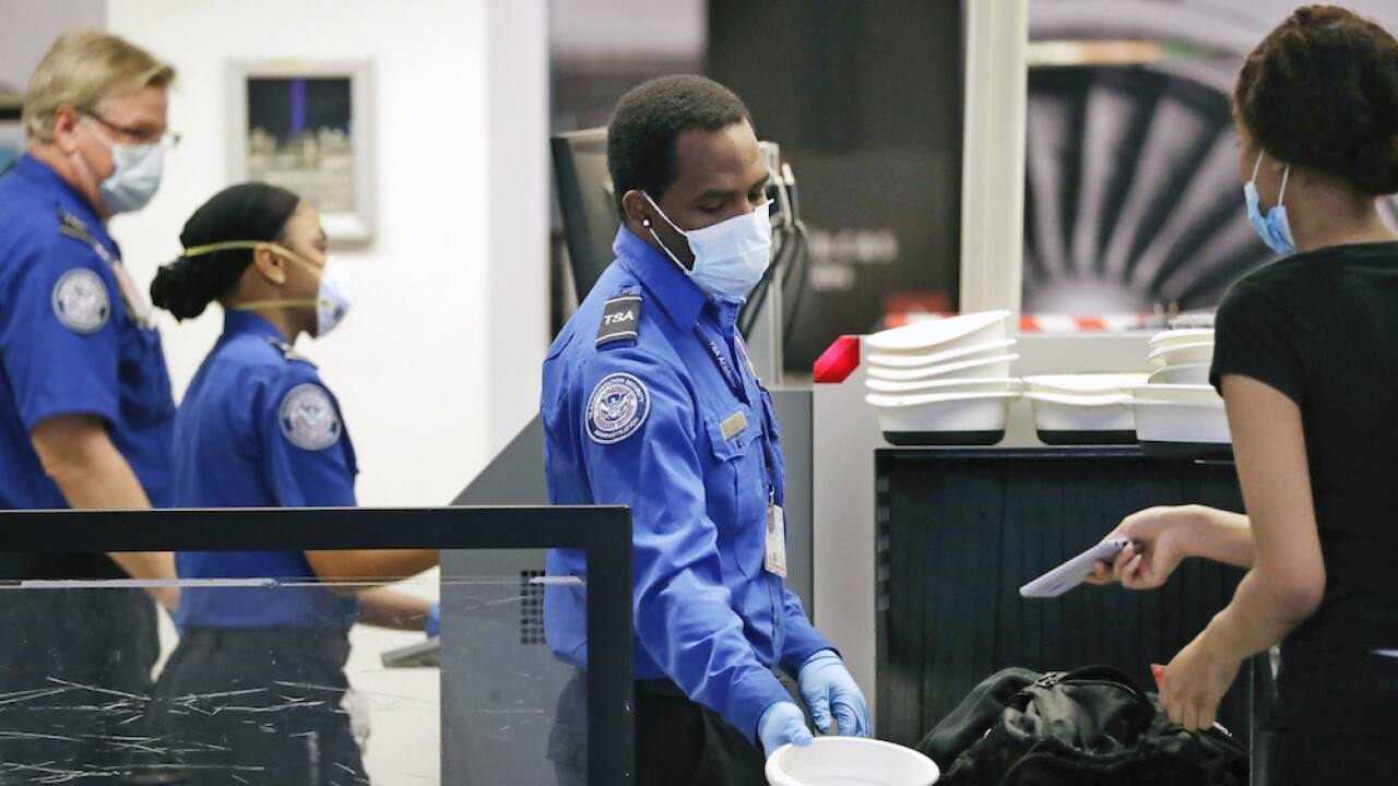 TSA screened 1.2 million travelers on Sunday, the most in a single day since March