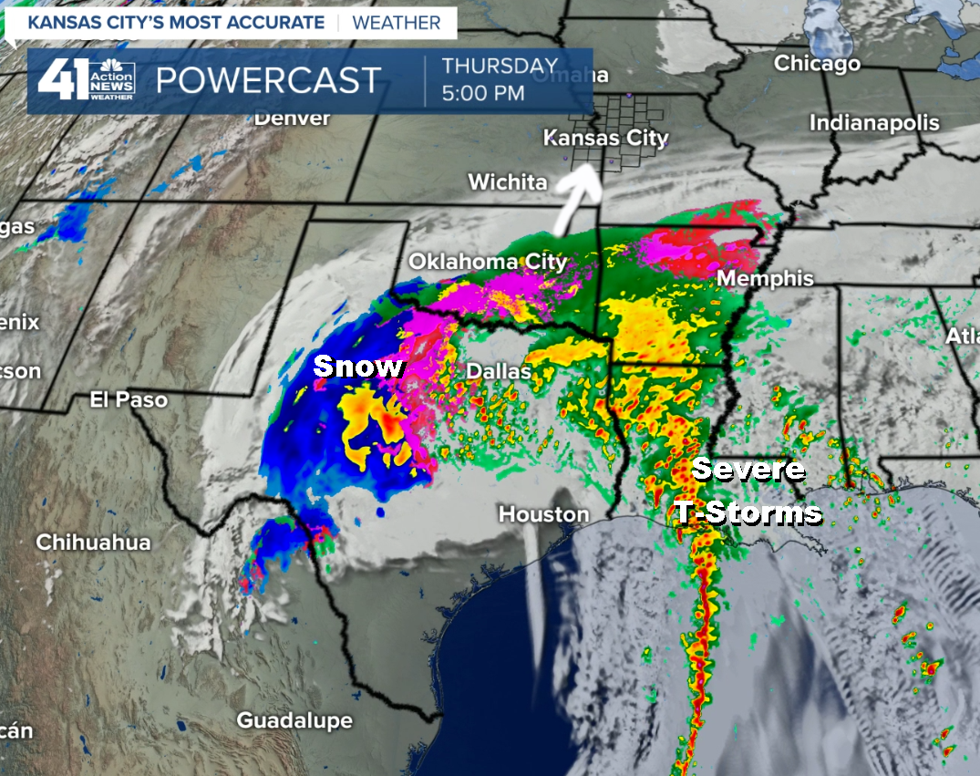 Major Storm Develops On New Year's Eve