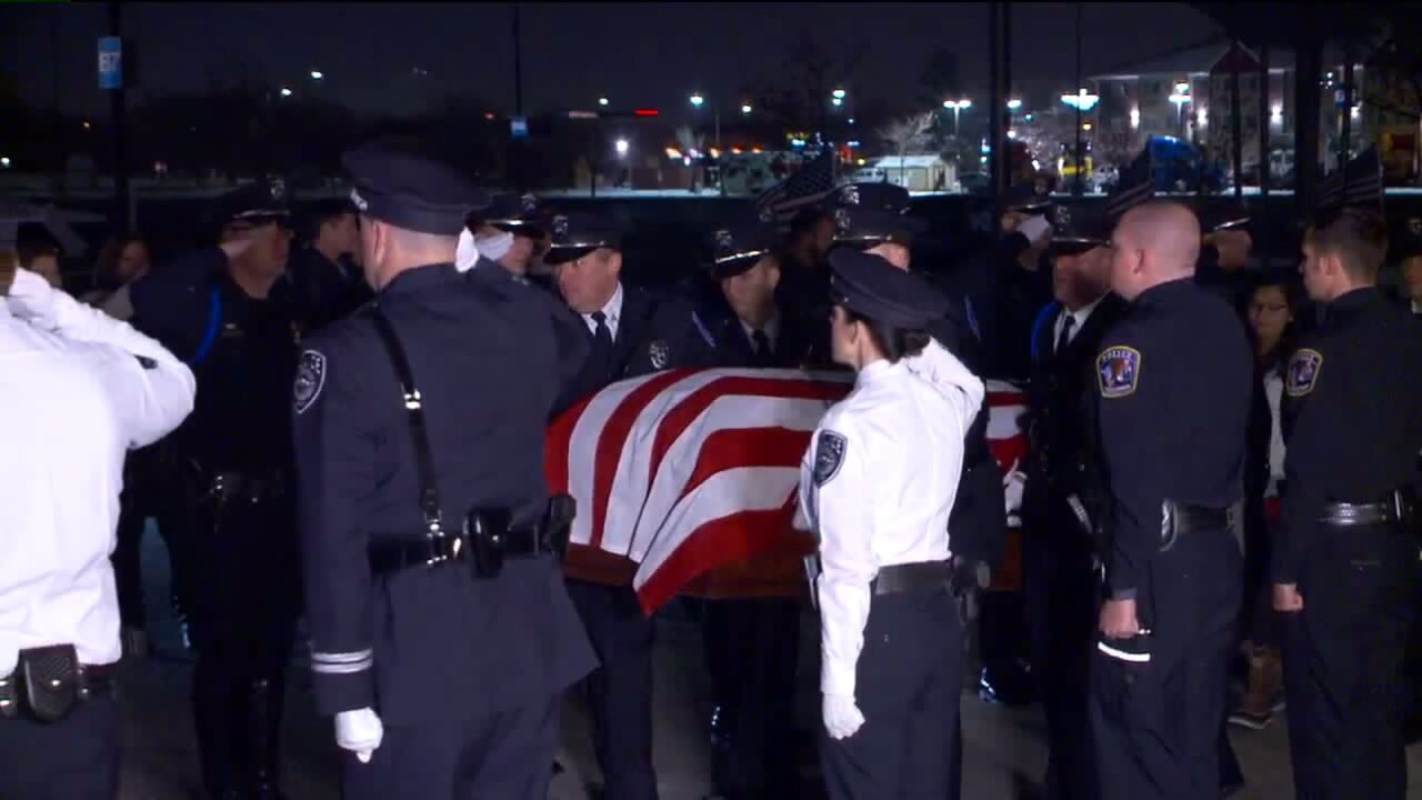 Memorial service at Maverik Center honors life of fallen officer David Romrell