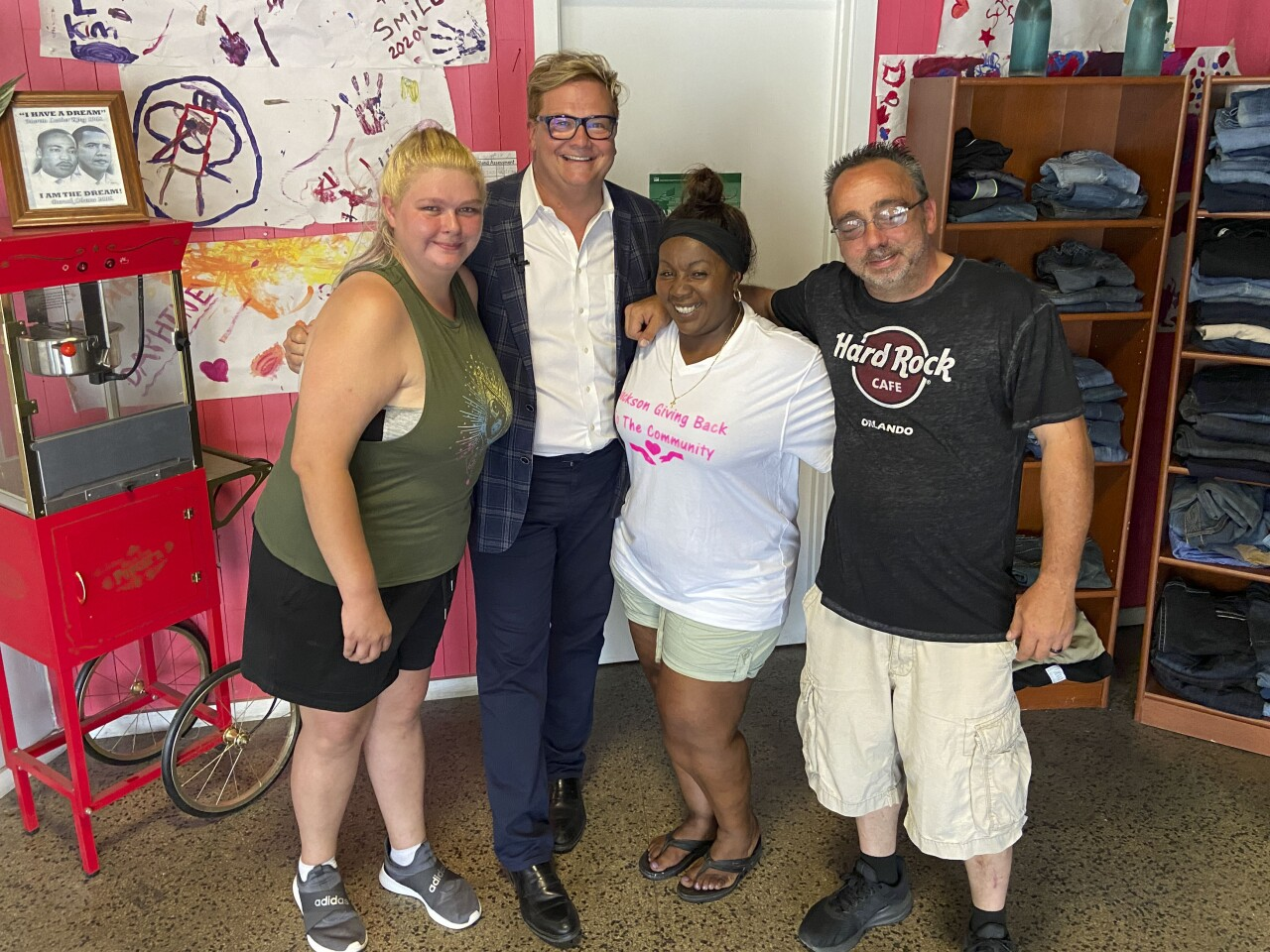 Bob with Jackson Michigan Giving Back to the Community