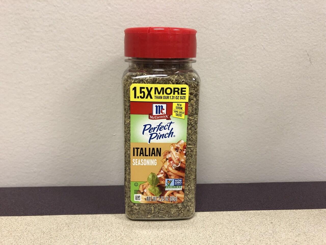 Perfect Pinch Italian Seasoning 2-25oz front