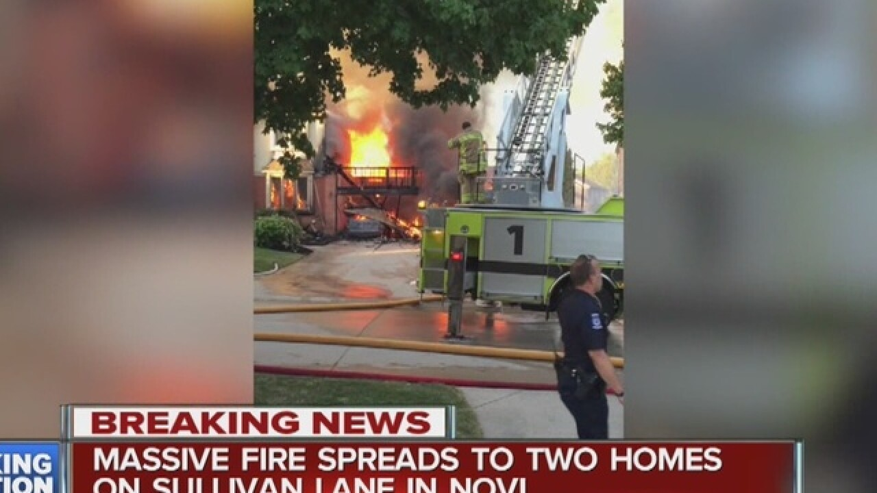 Two homes goes up in flames in Novi