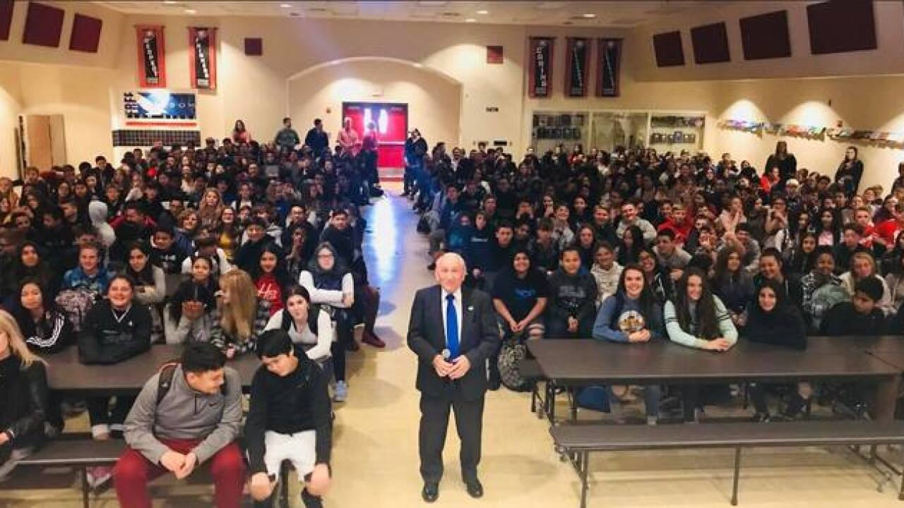 Holocaust Survivor visits Freedom Middle School