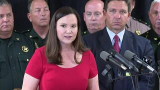 Ashley Moody discusses border security during news conference at Escambia County Sheriff's Office in Pensacola, June 16, 2021