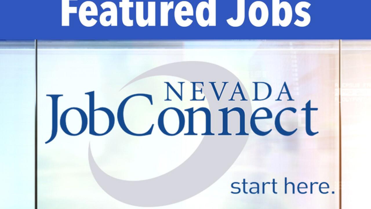 Featured Job Openings In Las Vegas For The Week Of December 11