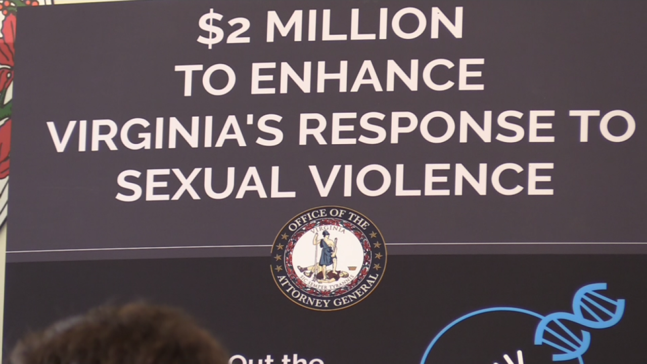 Virginia AG Herring announces $2 million grant to test backlogged rape kits, enhance sexual violence response