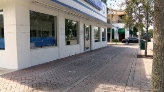 Empty storefront in downtown Delray Beach