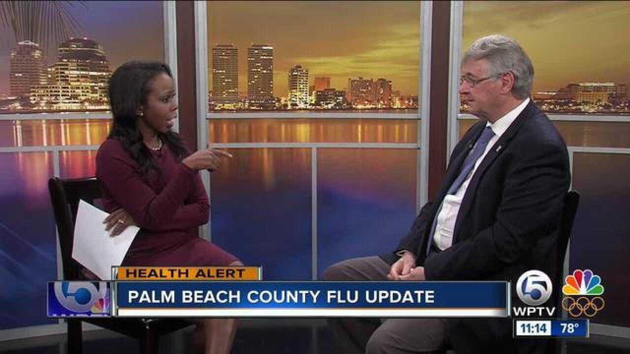 How is the flu impacting South Florida?