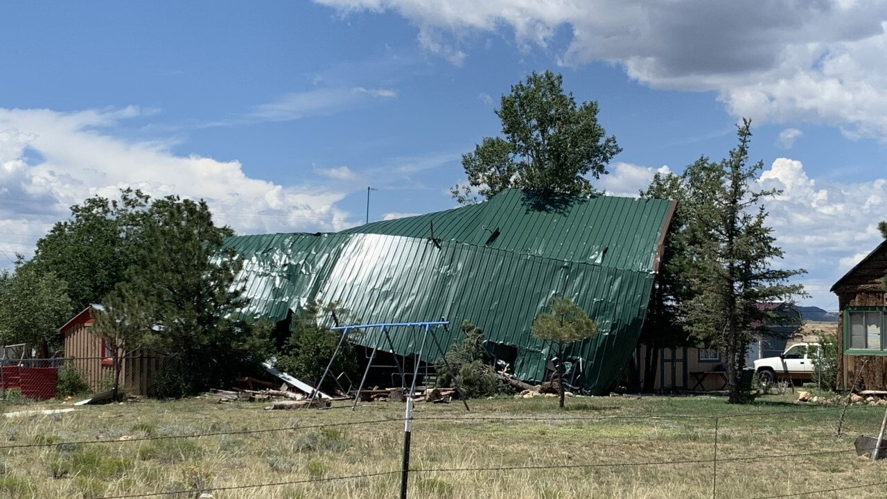 DeWeese tornado damage roof