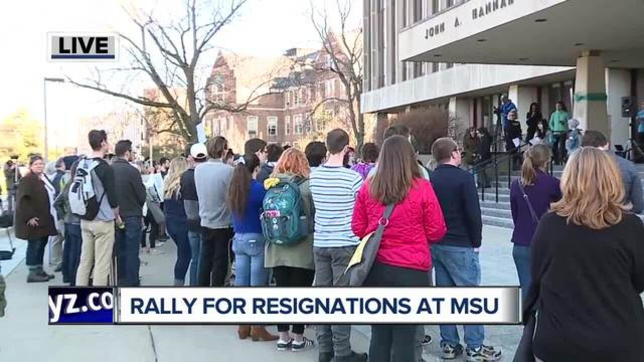 Rally calls for resignations at MSU