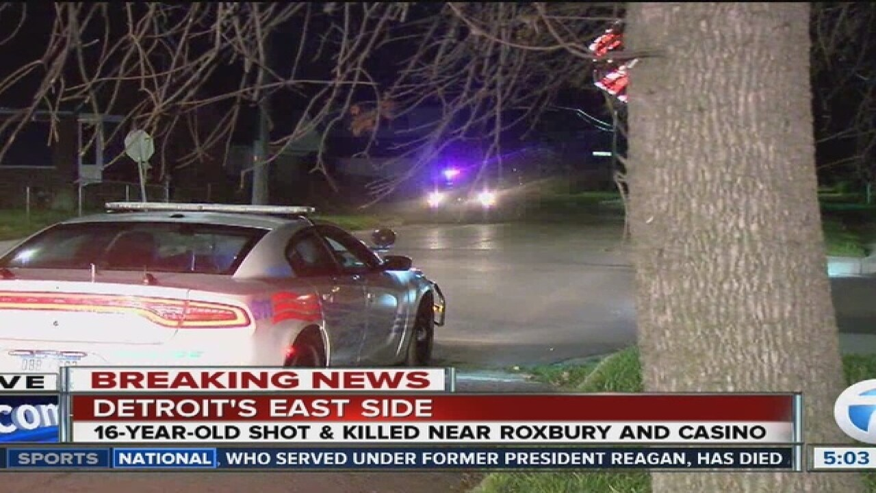 16-year-old shot and killed in drive-by shooting