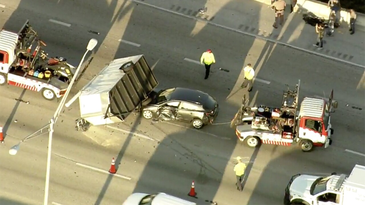 Crash cleared on I-95 SB in Palm Beach County
