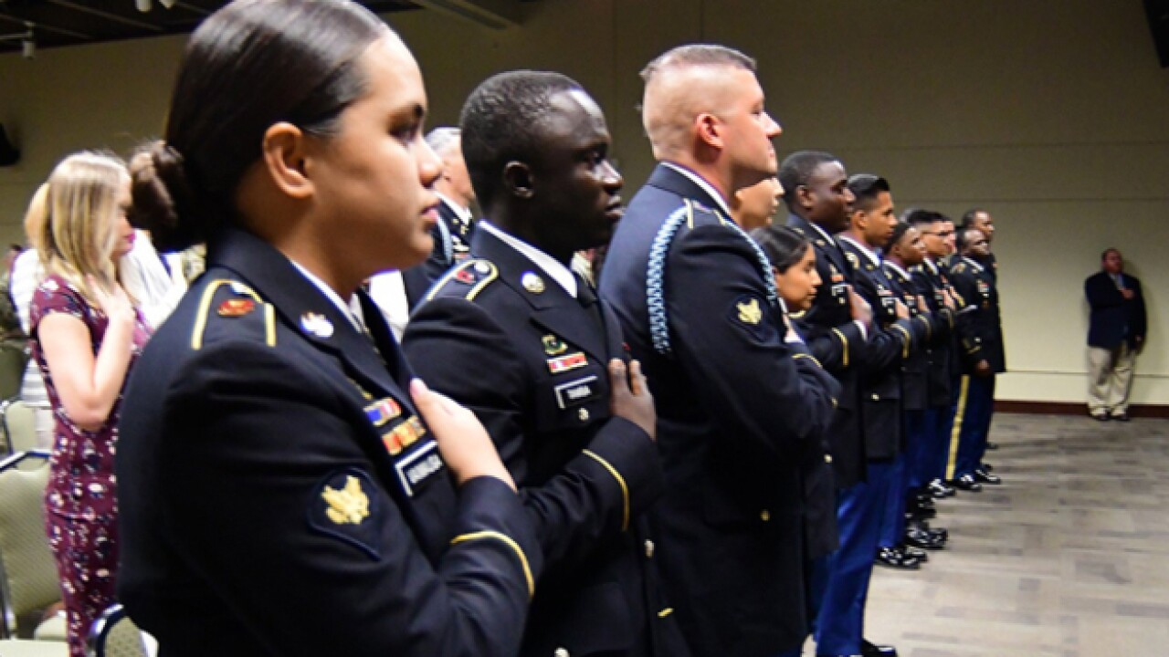 Soldiers Become U.S. Citizens