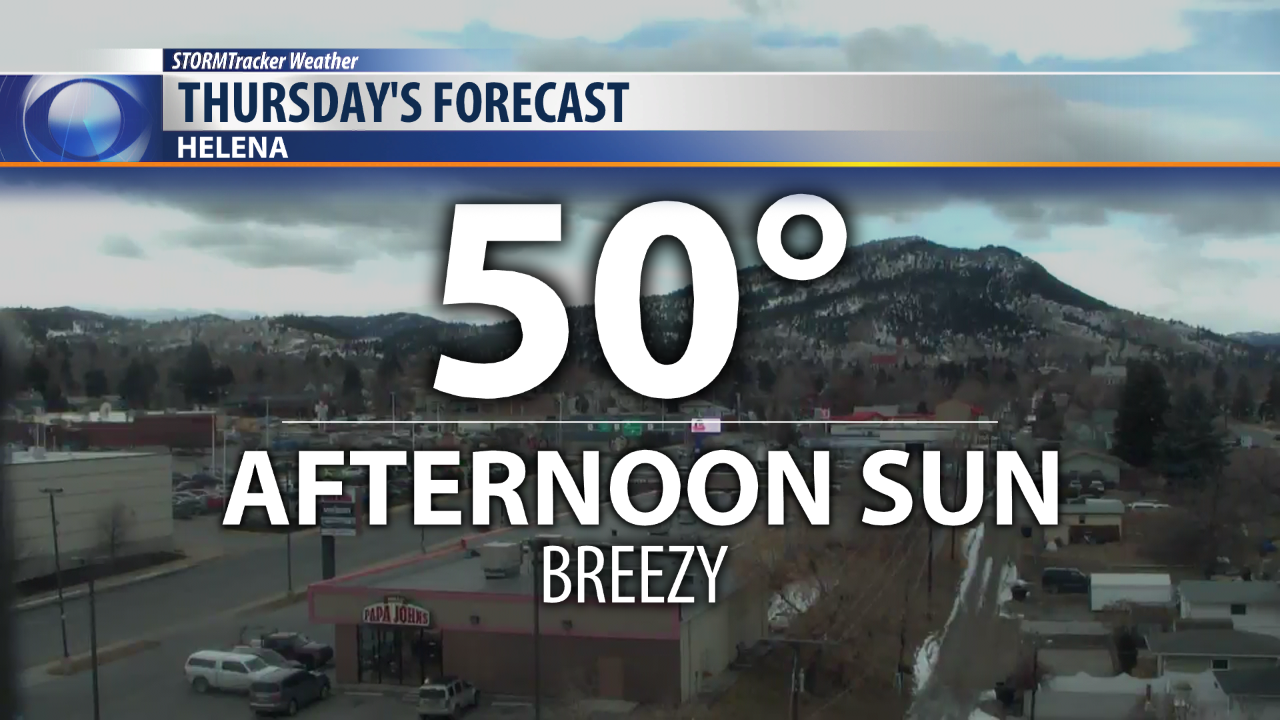 Warm and breezy Thursday